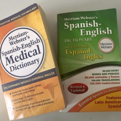 My Spanish-English dictionaries