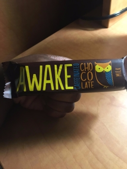 caffeinated chocolate, because I don't drink coffee.
